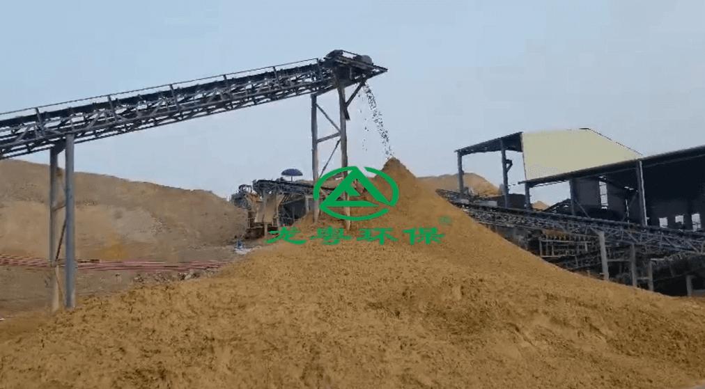 广东云浮时产300T砂石场生产线及污水处理系统