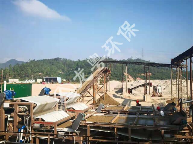 广东惠州冠良沙场时产200T砂石骨料线污水解决方案