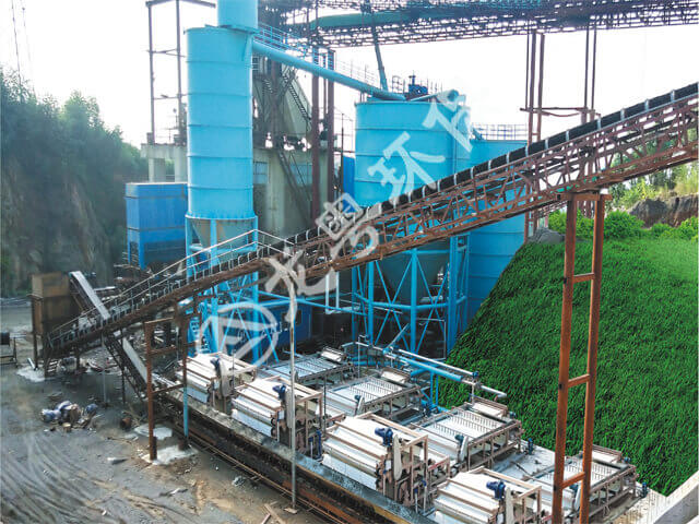 广东清远谷城矿业时产1000t砂石骨料水洗线污水处理